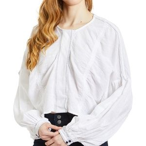 Free People Ivory Day Dreaming Top NWT
